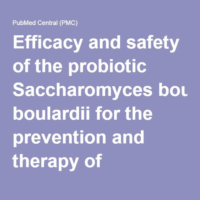 Efficacy and safety of the probiotic Saccharomyces boulardii for the prevention and therapy of gastrointestinal disorders