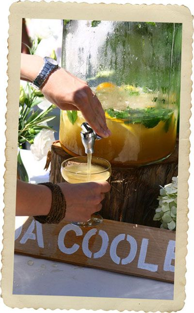 Feijoa cooler cocktail