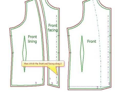 facing lining jacket finishing 3