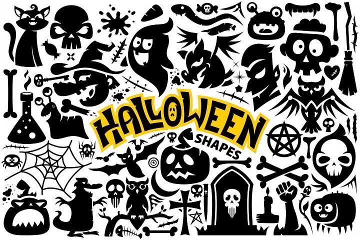 Halloween Vector Shapes Collection from DesignBundles.net