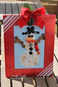 Doodle Craft...: Snowman Buttons!