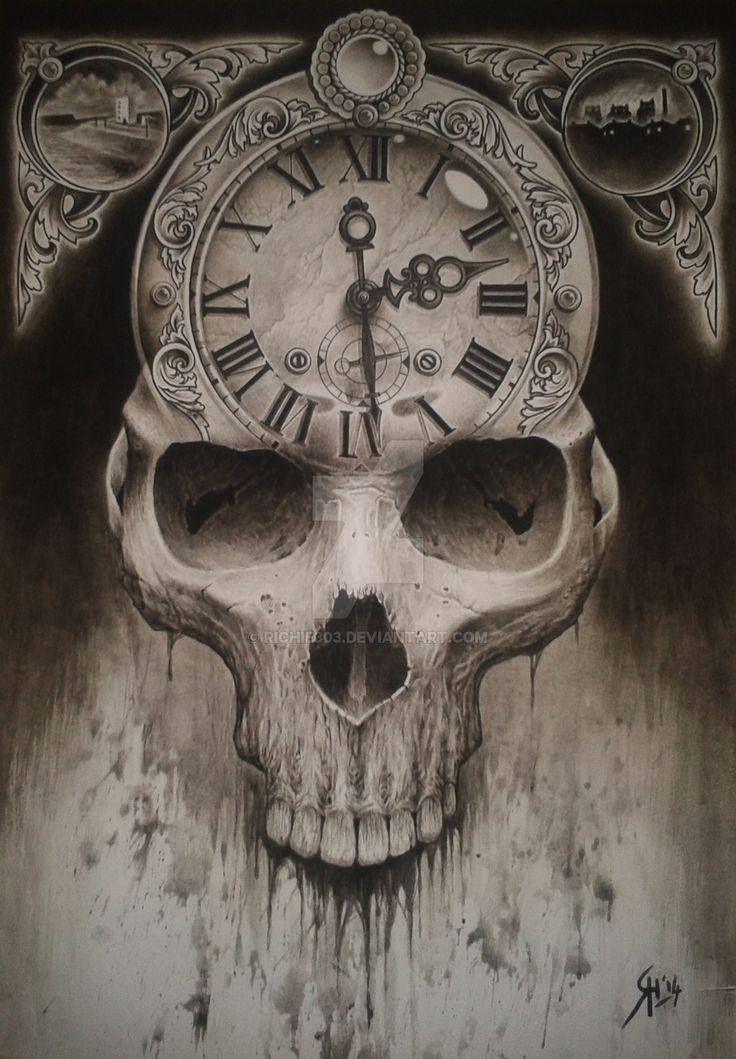 skull clock - Google Search