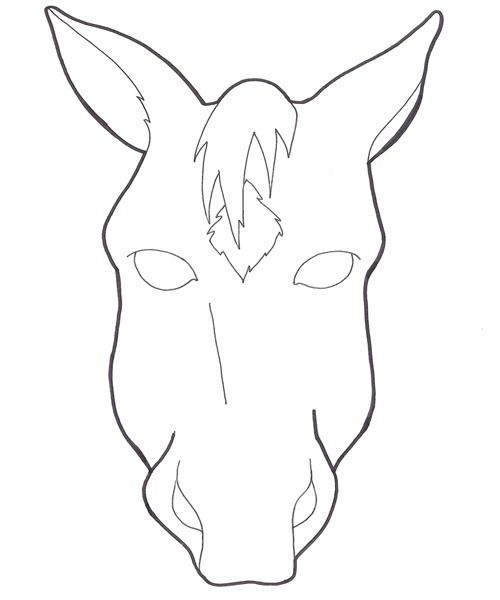 photo about Horse Head Template Printable identified as Horse+Encounter+Mask+Template Innovative Horse facial area, Experience