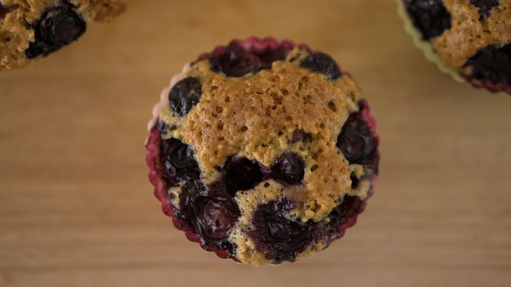 These vegan paleo banana blueberry muffins contain no soy, flour, or added sugar. High protein and low carb, not only guiltless but also good for you.