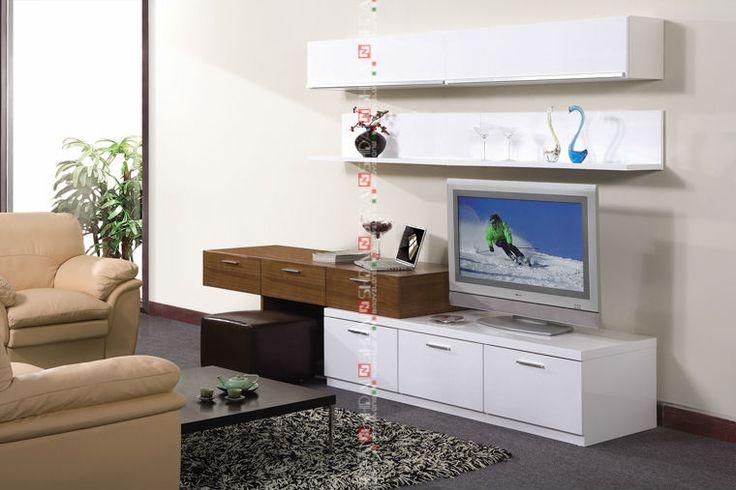 TV desk wall units designs / luxury floor cabinet / tv base unit E-117 E-118 E-119