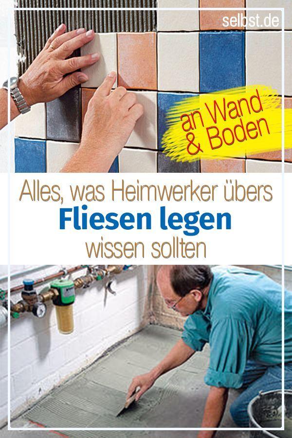 Fliesen legen | Bodenbeläge und Wandbeläge - Küche Badezimmer ...