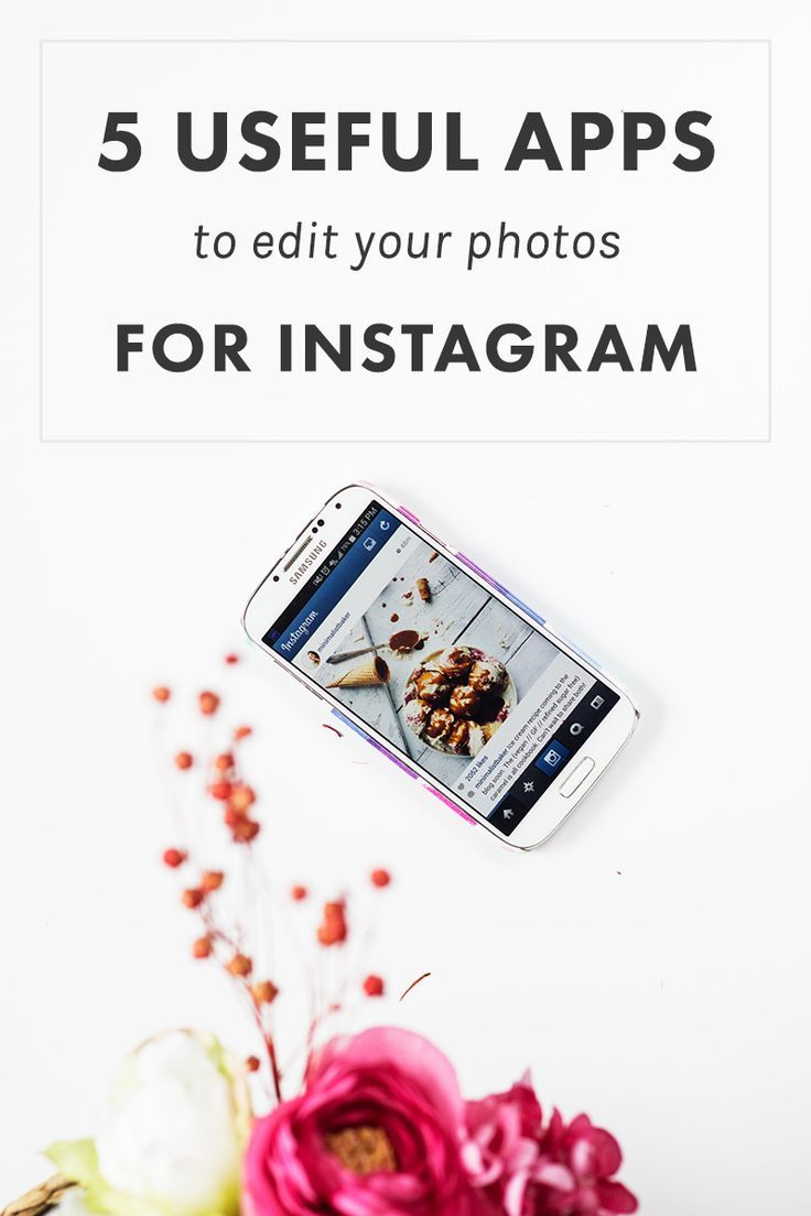 5 Useful Apps To Edit Your Photos for Instagram | Great apps for photo editing when you're on the go and still running your biz.