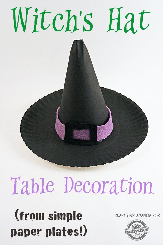 Paper Plate Witch's Hat