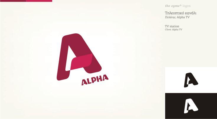 Alpha TV logo design