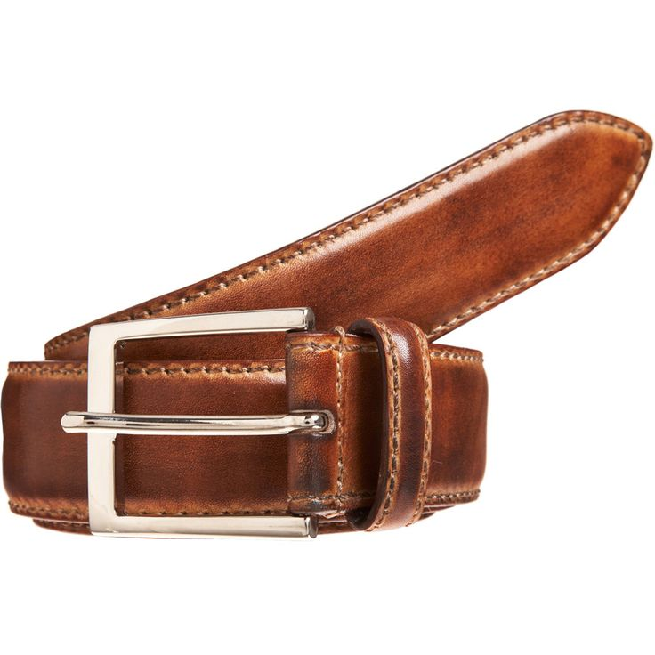 Gucci men brown perforated leather belt brown perforated leather with a  vintage feel black palladium hardware square buckle with embossed gucci logo  Gucci .