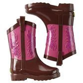 Built for puddles and rainy days, these Western Chief® rain boots feature a cowgirl design that's perfect for horseback riders.<br>