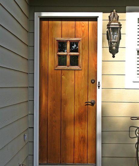 Replacement tudor door by decora craftsman exterior wood entry door dbyd 4002 for the home - Black craftsman front door ...