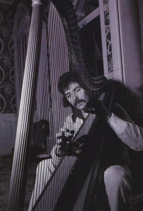 Tony Iommi of Black Sabbath playing the harp. Uhhhh I want to hear! Favorite musician