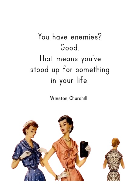 "Quirky Quotes by Vintage Jennie  |  ""Enemy"""