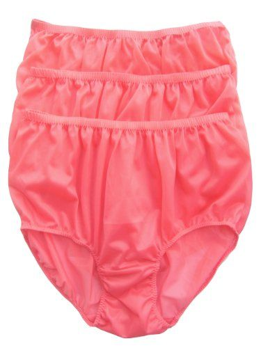 CLICK IMAGE TWICE FOR PRICING AND INFO :) #women #panties #lingerie #briefpanties #intimates #undergarment see more granny panties at http://zpanties.com/category/panties-categories/granny-panties/ - Lot 3 Piece Wholesale Granny Briefs Panties 100 % Nylon Knickers Lingerie Light Pink Size 3xl « Z Panties