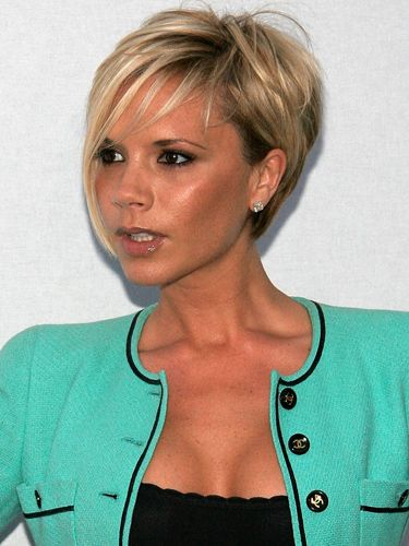 Remember this? Having been known for her Posh Spice bob in the Spice Girls, Victoria Beckham got some super-long extensions for her solo career, and then went in the opposite direction! She's had both blonde and brunette crops, with shorter layers at the back and longer pieces framing her face at the front.