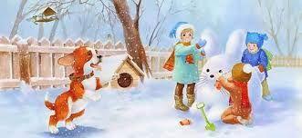 Картинки по запросу зима дети город