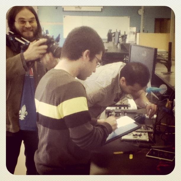 Tournage vidéo au Département de génie électrique et génie informatique, UQTR