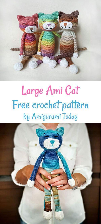 Large Ami Cat Crochet Pattern Crochet Patterns Crochet Patterns