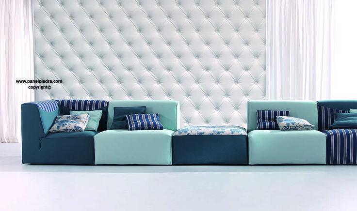Panel Piedra  crea su nuevo diseño Gran Capitone© patented Design© un modelo para  decoración de espacios de forma vanguardista y moderna.