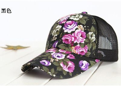 2016 hot sale female floral baseball hat for women spring and summer casual cap girls sun snapback hats for sport l leisure