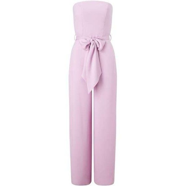 PREMIUM Bandeau Jumpsuit - View All - Clothing - Miss Selfridge ❤ liked on Polyvore featuring jumpsuits, miss selfridge, pink jumpsuit, bandeau jumpsuit, miss selfridge jumpsuit and jump suit