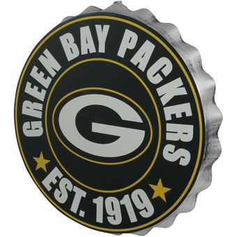 Green Bay Packers Bottle Cap Wall Sign