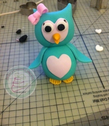 Handmade Owl cake topper made of gum paste & fondant.. Tonight instead of resting, I'm preparing myself for the next few weeks I will be none stop making orders..