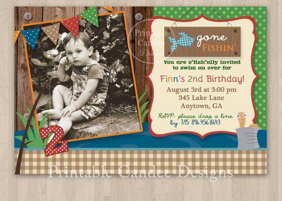 Fishing birthday invitation vintage fishing invitation for Fishing birthday invitations