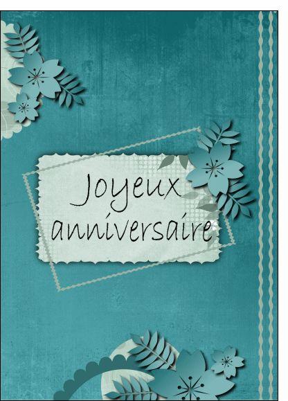 Carte joyeux anniversaire fleurs for Envoyer fleurs par internet
