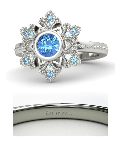 Disney princess rings: Elsa from Frozen.