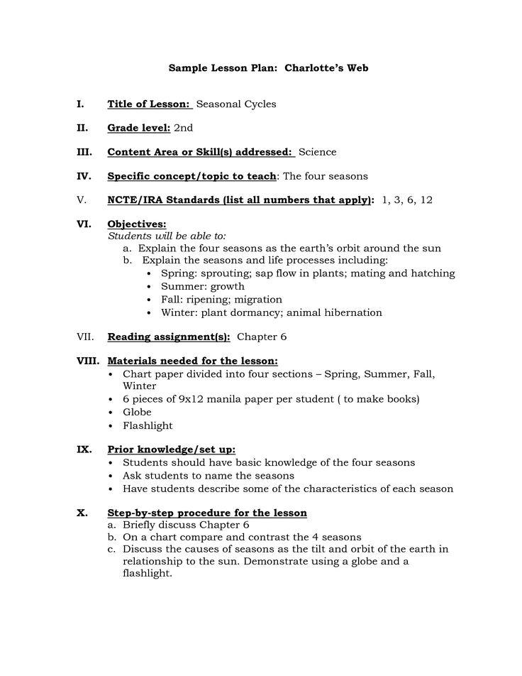 charlotte danielson lesson plan | Charlotte Danielson Lesson Plan Template - kootation.com