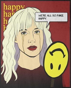 #FakeHappy Art