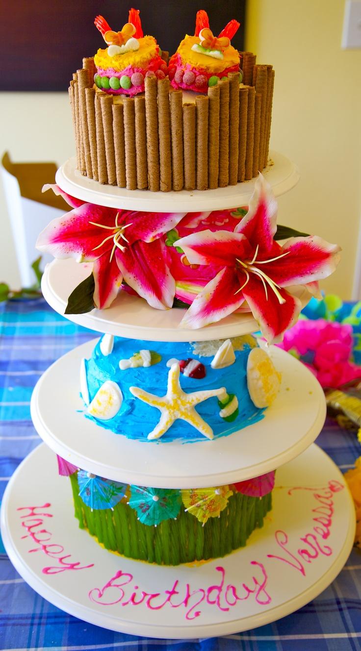 77 best images about Hawaiian Birthday cake ideas on Pinterest