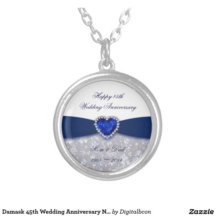 Damask 45th Wedding Anniversary Necklace 75 best