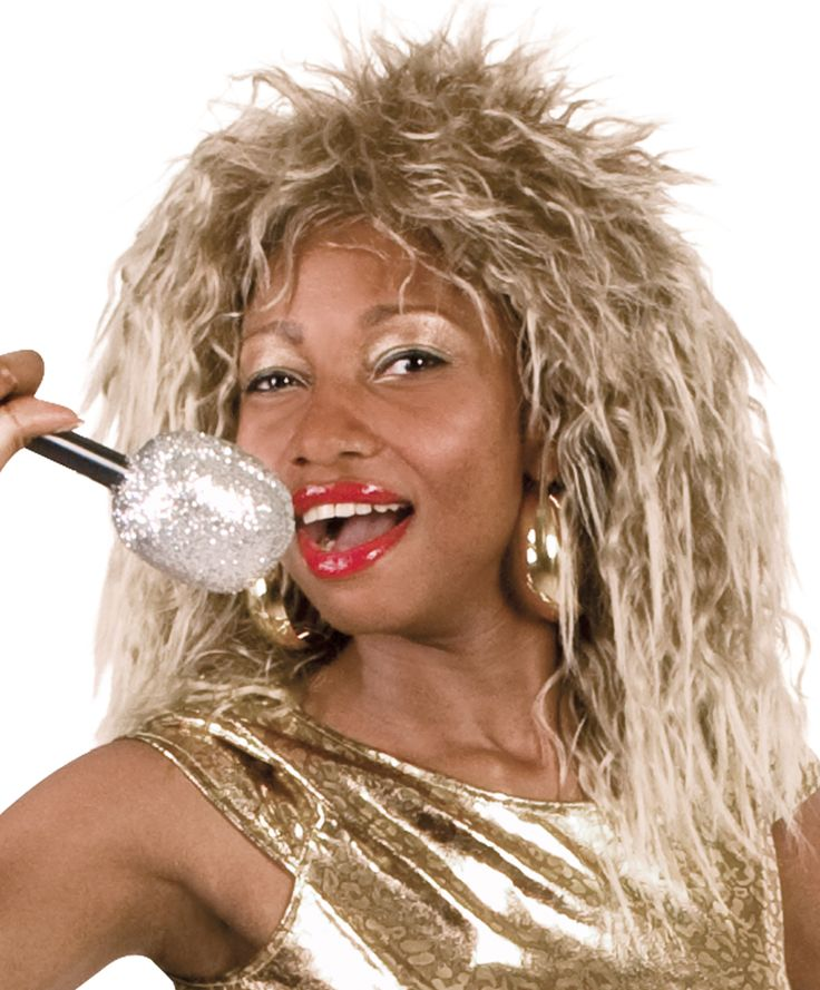 Rock Queen -peruukki. Tämä sähäkkä peruukki viimeistelee tyylisi, jos haluat olla lähes aito rockin kuningatar.