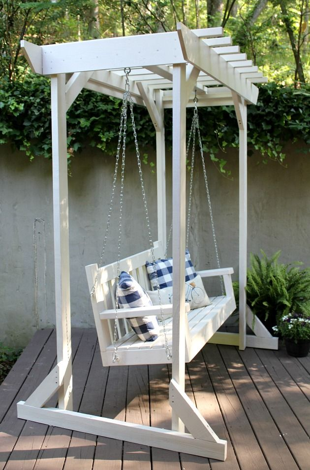 Instructions look very straight forward using Kreg Jig - DIY Porch Swing & Pergola | The Tale of an Ugly House