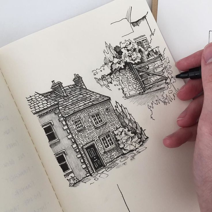 #art #drawing #pen #sketch #illustration #architecture #moleskine