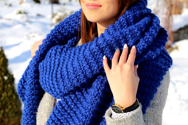 electric blue scarf