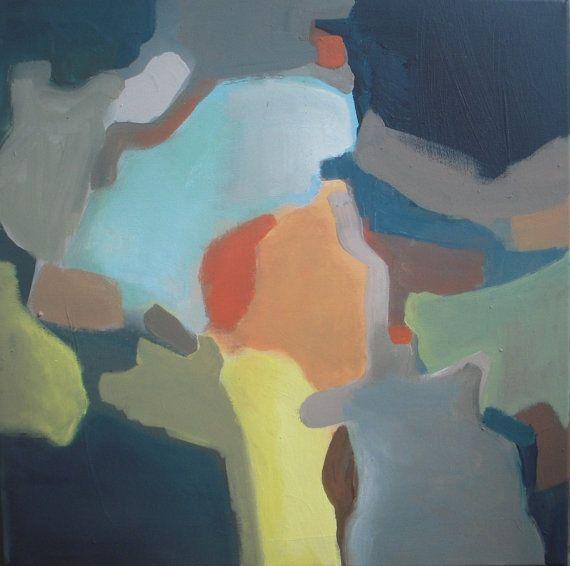 Original acrylic painting  colorful abstract painting by VESNAsART