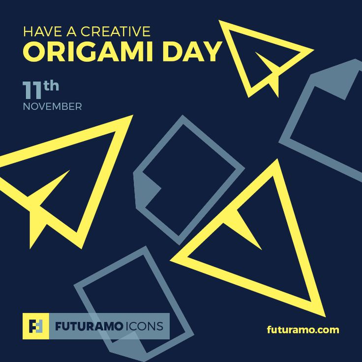 Have a creative Origami Day! All #icons used in the series are available in our App. Imagine what YOU could create with them! Check out our FUTURAMO ICONS – a perfect tool for designers & developers on futuramo.com  #icondesign  #icons  #iconsystem  #pixel #pixelperfect  #flatdesign  #ux  #ui  #uidesign  #design #developer  #webdesign  #app  #appdesign #graphicdesign