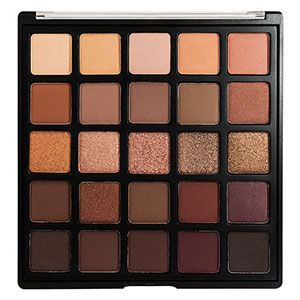 A twenty-five-colour deep brown and purple eyeshadow palette. With a range of foil and matte finishes, the 25B Bronzed Mocha Eyeshadow Pale http://amzn.to/2tGFV5R