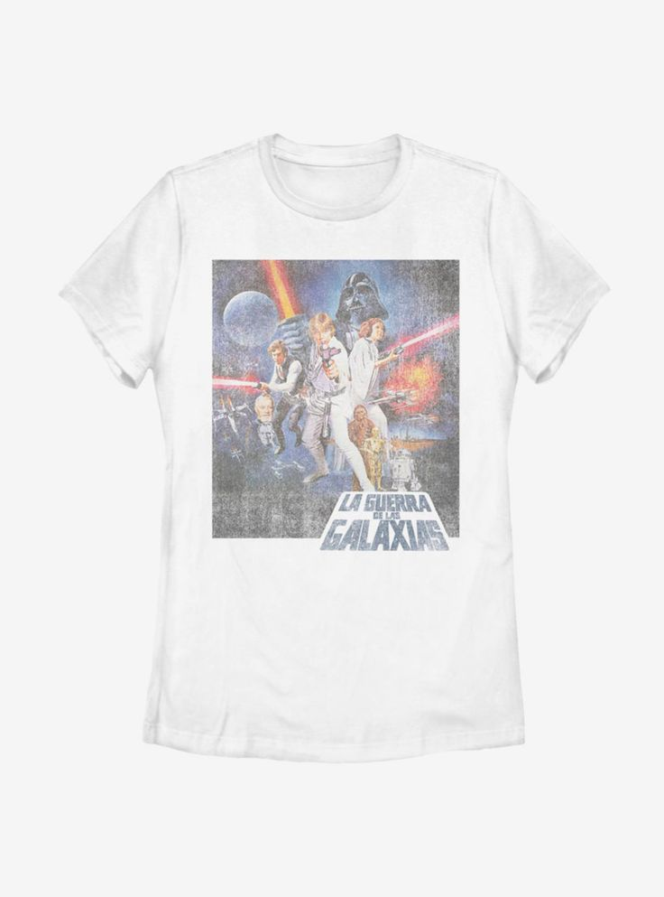 Star Wars La Guerra De Las Galaxias Womens T-Shirt