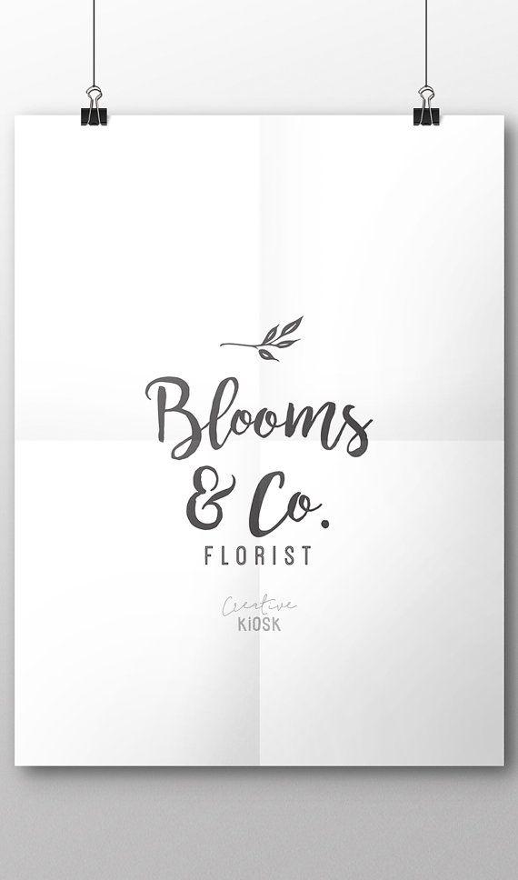 Florist Logo. Simple Natural Logo. Instant Download Logo. DIY Logo. Blog Logo. Website Logo Template. Editable PSD Photoshop File. #0404.
