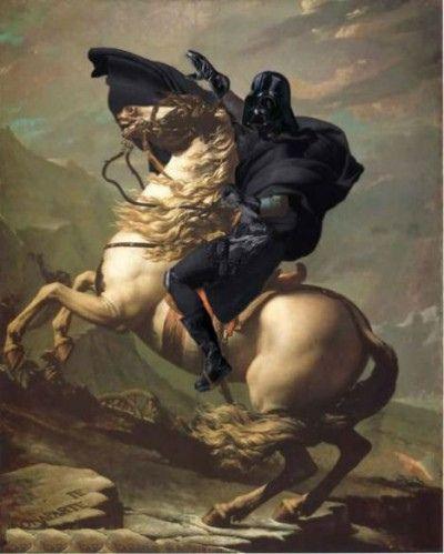 STARWARS: Darth Vader, Except, Geek Art, Stars War Art, Darth Bonapart, Art History, Art Pieces, Starwars, Alps