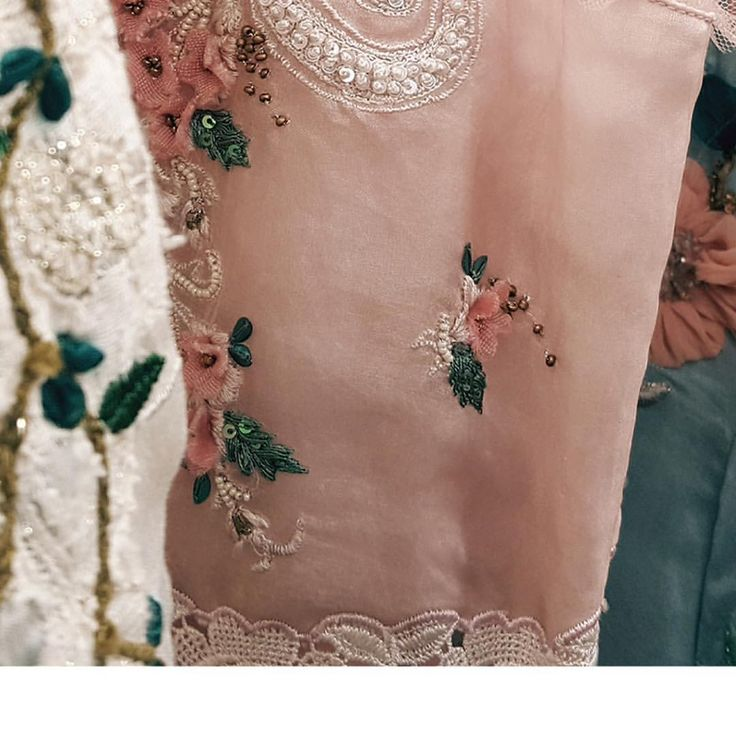 """Do it with passion or not at all! #TuesdayMotivation Some pretty passionate details from our """"The Runaway Bride"""" Collection. . . . . . . . . . . . . . . #Festive #Brides #Florals #FloralApplique #Intricate #HandEmbroidery #AbhishekVermaa #AbhishekVermaaDesigns #IndianDesigner #Luxury #Fashion #Couture #Shopping #Delicate #Embroidery #IndianWedding #Classic #Bridal #bridalFashion #FestiveWear #IndianWear #contemporaryFashion #LuxuriousFashion"""