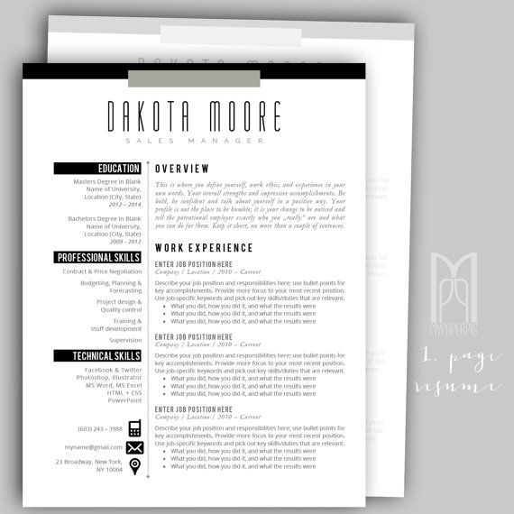 109 best ALL OF MY Modern \ Creative RESUME TEMPLATES images on - mac pages resume templates