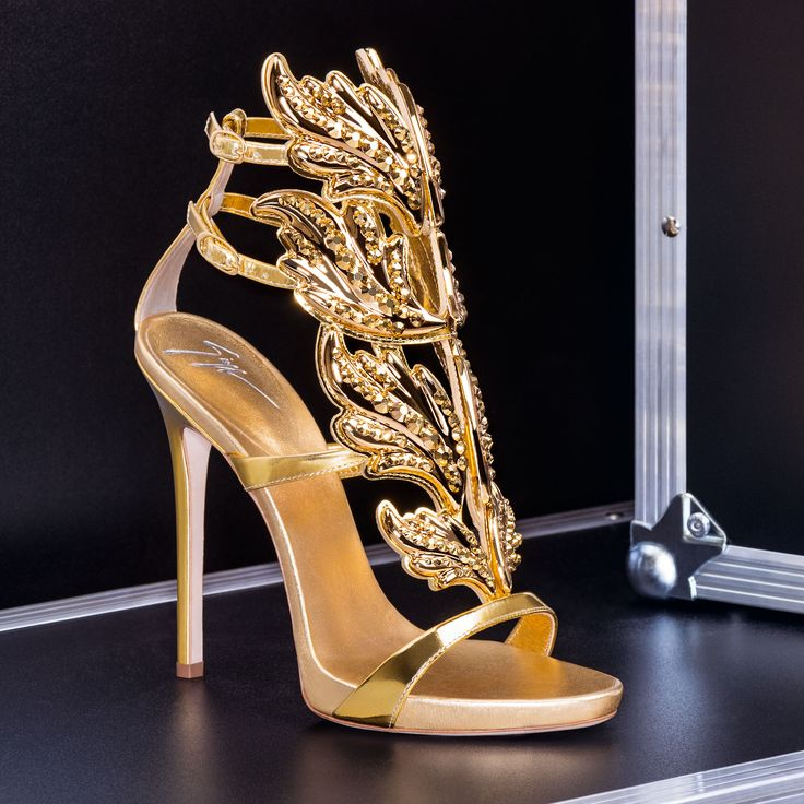 Golden Hour: The iconic CRUEL sandal with bright crystals.