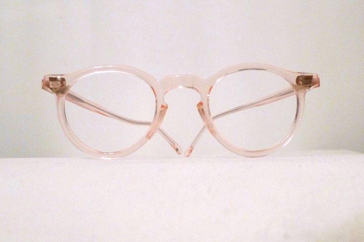 Iconic Round Blush Pink Eyeglass Frames Nos Warhol