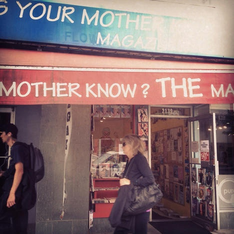 Does Your Mother Know? magazine store closing in Kitsilano